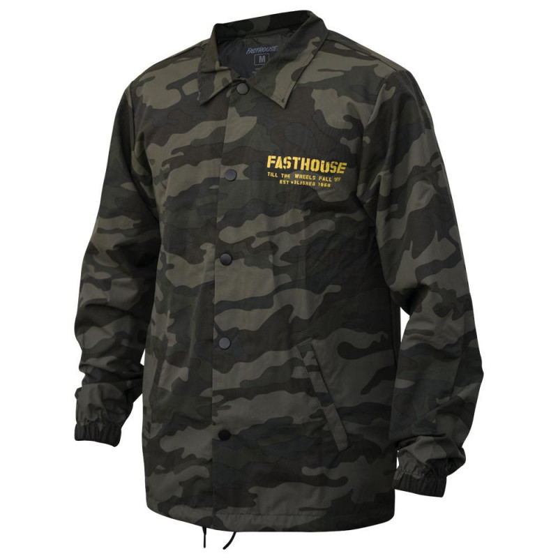 FASTHOUSE JACKET TORN CHECKERS CAMO