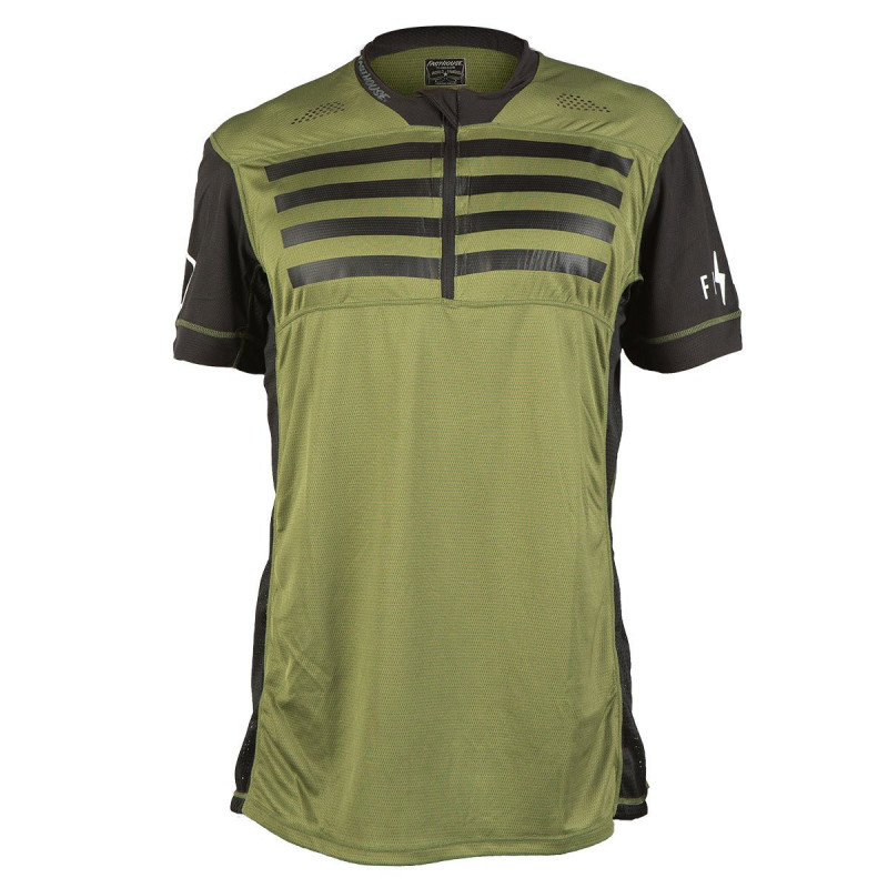 FASTHOUSE BIKE JERSEY CROSSLINE STRIPES OLIVE