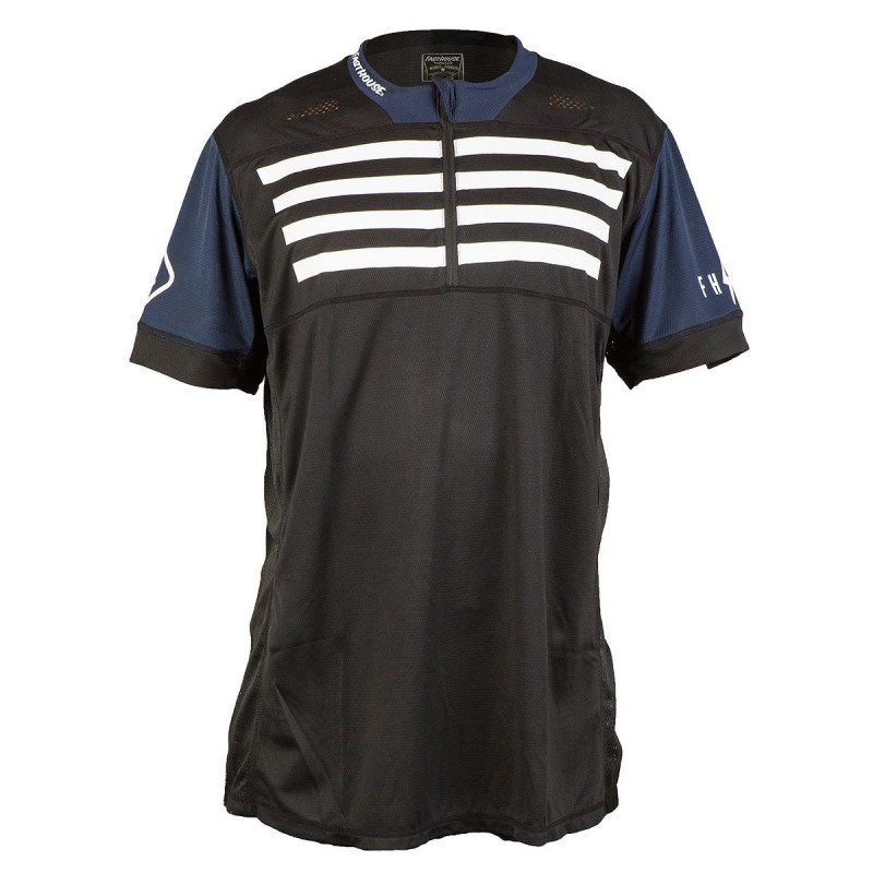 FASTHOUSE BIKE JERSEY CROSSLINE STRIPES BLACK