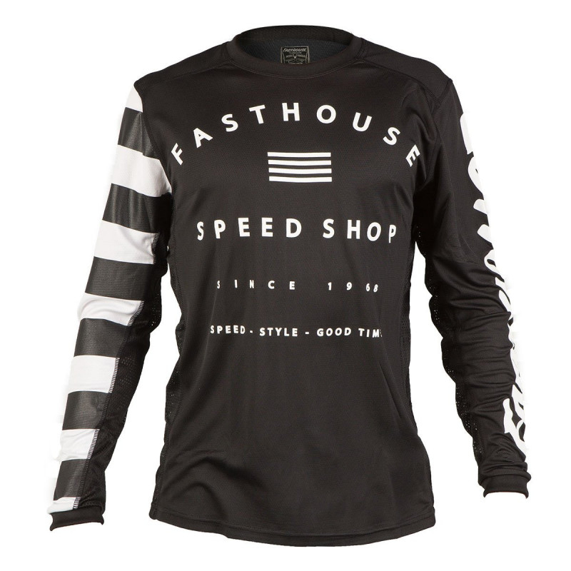FASTHOUSE BIKE JERSEY FASTLINE SPEEDSHOP BLACK