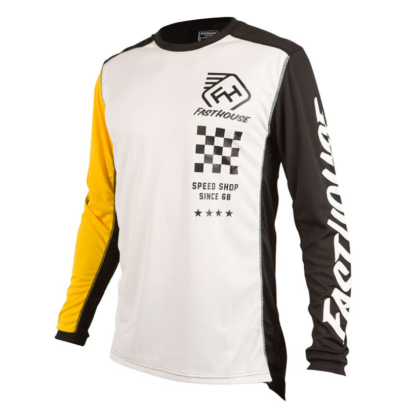 FASTHOUSE JERSEY ICON WHITE YELLOW