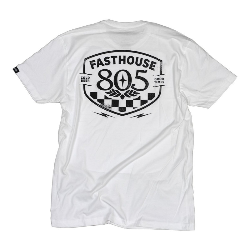 FASTHOUSE SHIRT 805 PITSTOP WHITE