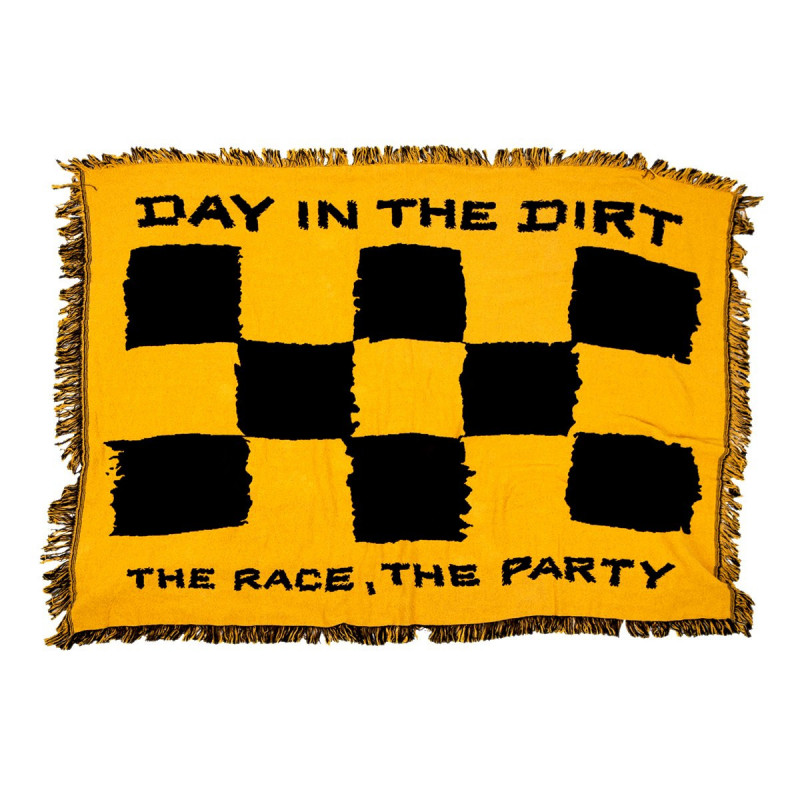 FASTHOUSE THROW BLANKET THE RACE THE PARTY BLACK GOLD