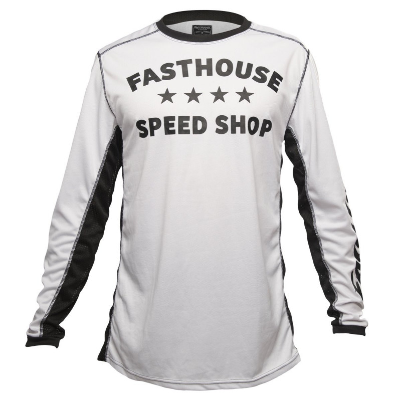FASTHOUSE BIKE JERSEY DROPPER WHITE