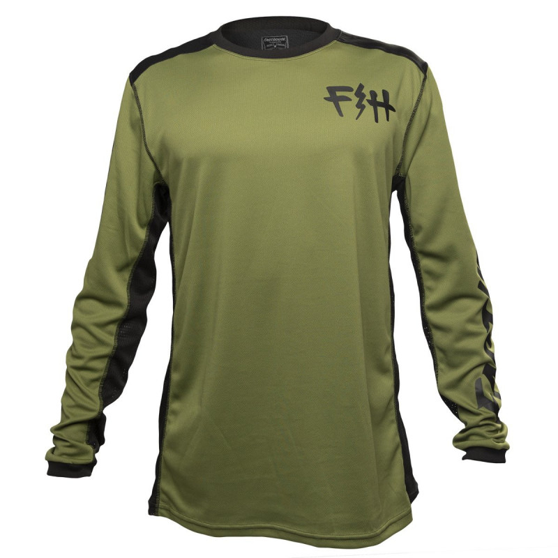 FASTHOUSE BIKE JERSEY FAST BOLT OLIVE
