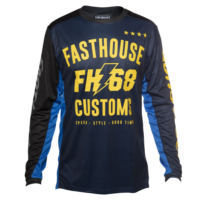 FASTHOUSE JERSEY WORX 68 BLUE/YELLOW YOUTH