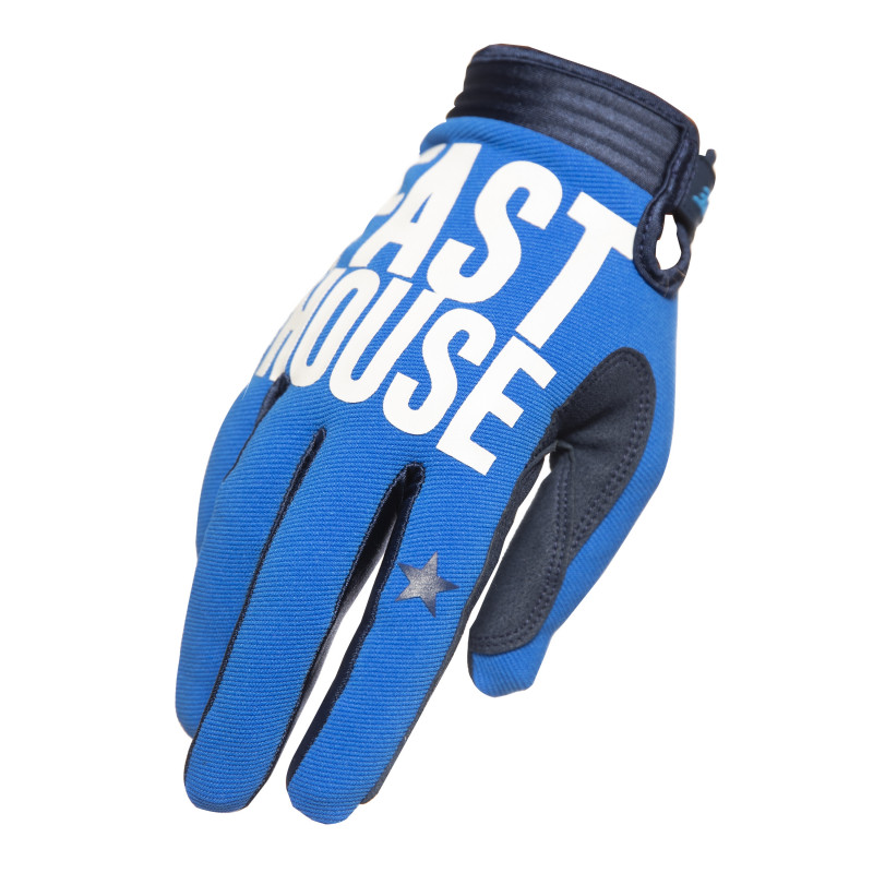 FASTHOUSE GLOVES SPEEDSTYLE BLOCKHOUSE BLUE YOUTH