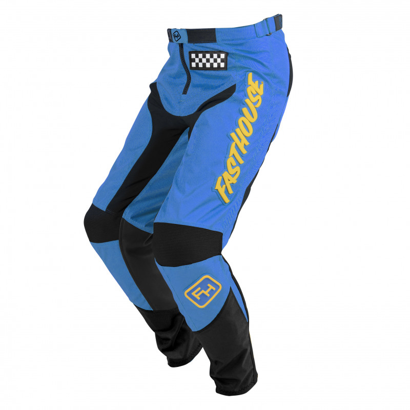 FASTHOUSE PANT GRINDHOUSE BLUE/YELLOW YOUTH
