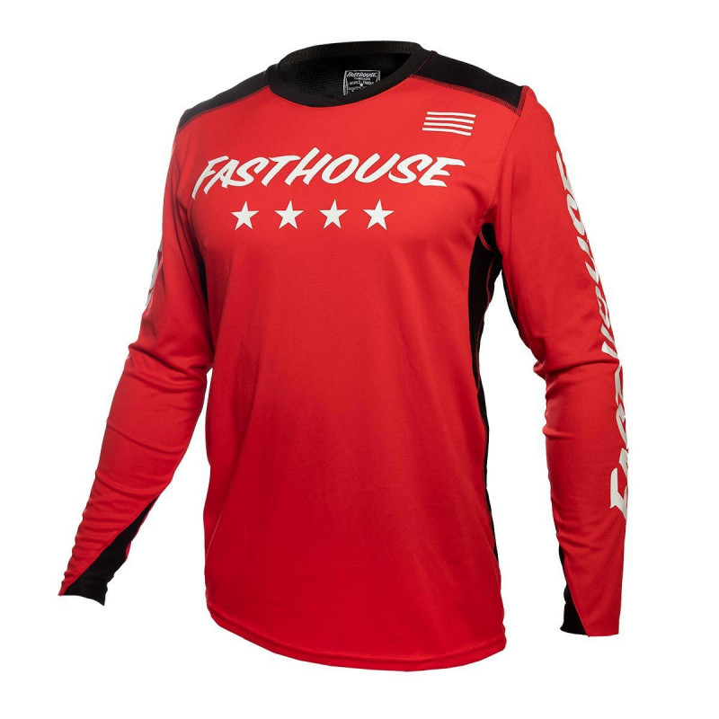 FASTHOUSE JERSEY RAVEN ELEMENT RED WHITE