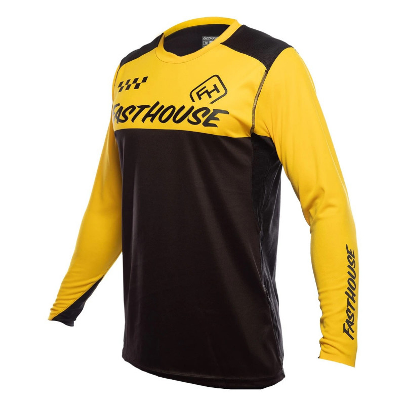 FASTHOUSE BIKE JERSEY ALLOY BLOCK YELLOW BLACK