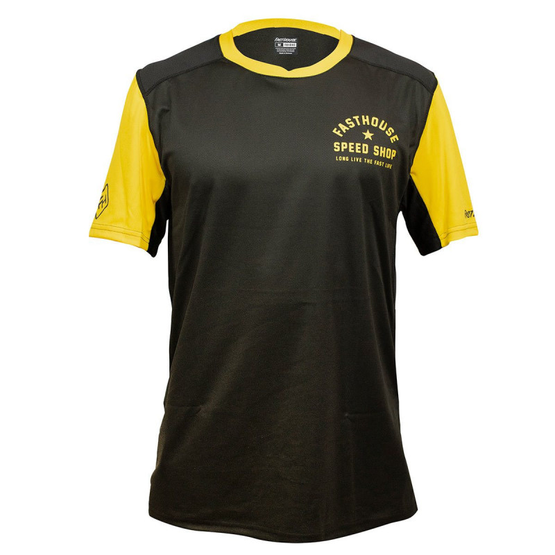 FASTHOUSE BIKE JERSEY ALLOY STAR SHORT SLEEVE BLACK GOLD