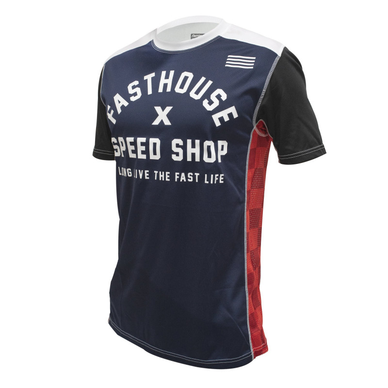 FASTHOUSE BIKE JERSEY HERITAGE SHORT SLEEVE NAVY