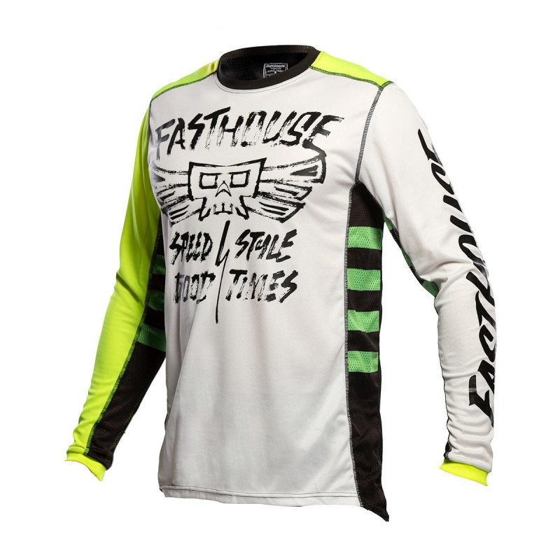 FASTHOUSE YOUTH JERSEY GRINDHOUSE TRIBE WHITE/HI-VIZ