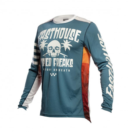 FASTHOUSE YOUTH JERSEY GRINDHOUSE SWELL SLATE/WHITE