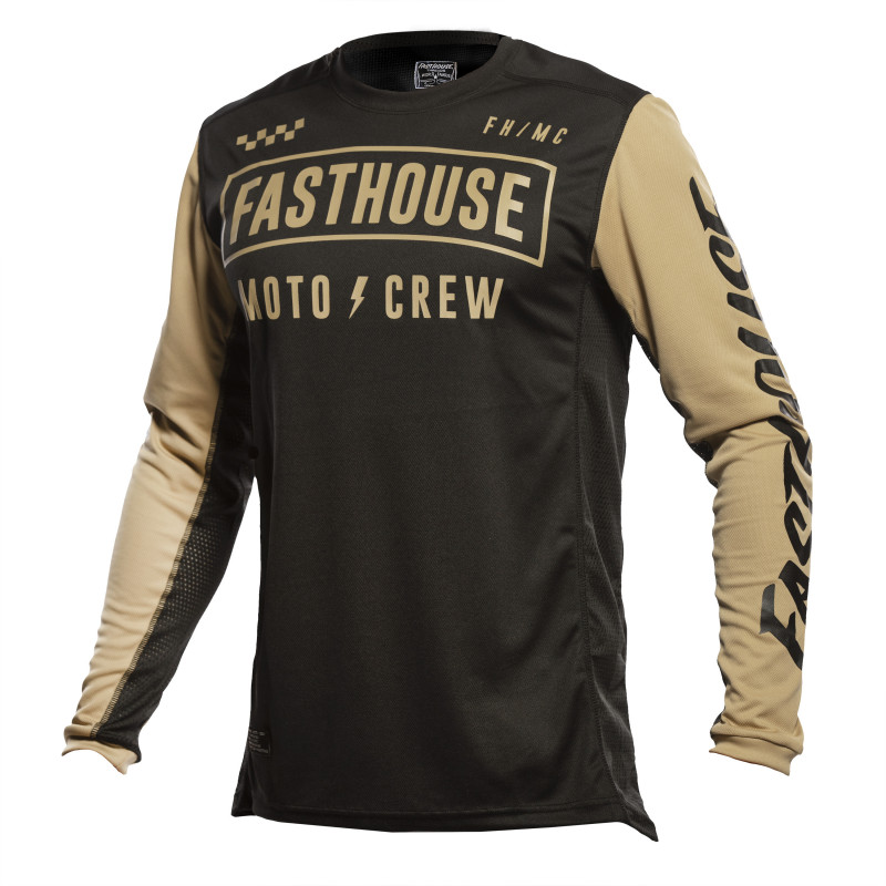 FASTHOUSE JERSEY GRINDHOUSE STRIKE BLACK/KHAKI