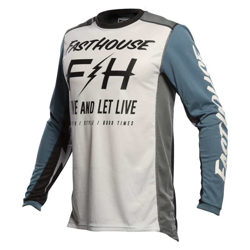 FASTHOUSE JERSEY GRINDHOUSE CLYDE WHITE/SLATE
